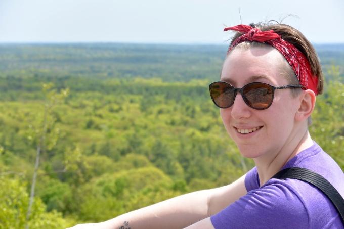 Megan on Bradburry Mountain.