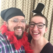 Having some fun at Jesse's vow renewal with my formal bandana