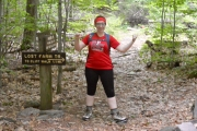 At 0.6 miles in we forked onto the Lost Farm Trail