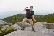 After about a half mile, Cliff Walk brings you to bald rock, and merges on Smith Connecting