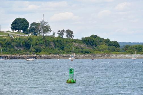 Green buoy.