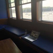 My temporary office while Megan auditioned.