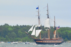 The Oliver Hazard Perry in Casco Bay.