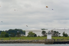 Bug Light and a plethora of kites as seen from the Peaks Island ferry.